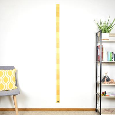 Mustard Yellow skinny height chart wall decal