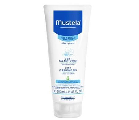 MUSTELA 2 IN 1 CLEANSING GEL HAIR & BODY 200ML