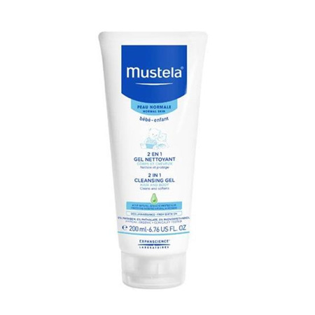 MUSTELA 2 IN 1 CLEANSING GEL HAIR & BODY 200ML