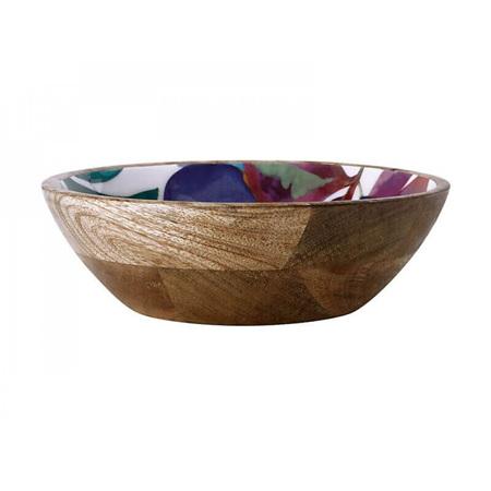 MW Samba Mango Wood & Enamel Finish Bowl 24cm