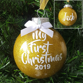 My First Christmas Personalised Ornament