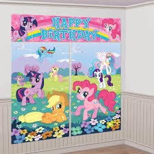 My Little Pony happy Birthday Wall Decorating Kit