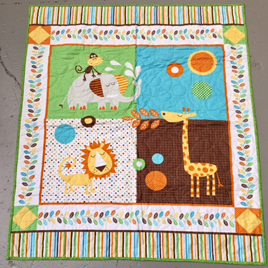 My Little Zoo Cot Quilt