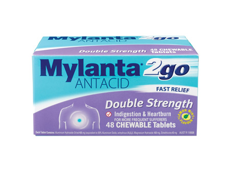MYLANTA 2Go Double Str. Tabs 48