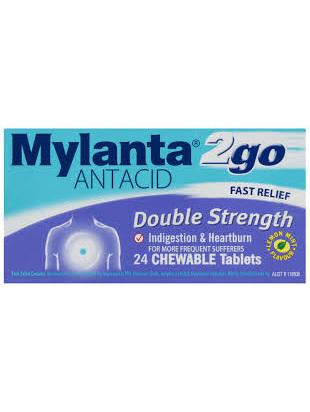 MYLANTA 2Go Double Strength Tabs 24