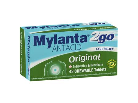 Mylanta2Go Antacid Original 48 Tablets