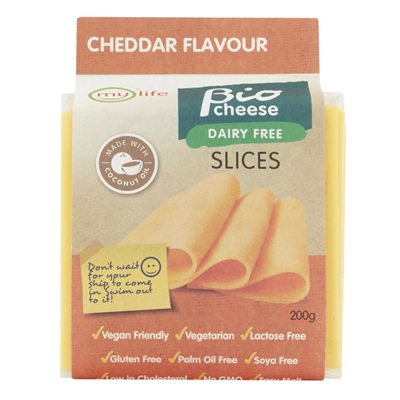 Mylife Biocheese cheddar slices