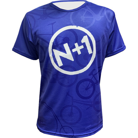 N+1 Logo Blue Tee
