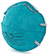N95 3M Health Care Particulate Respirator and Surgical Mask