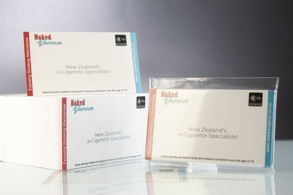 Naked Vapour Business Cards - Naked Vapour