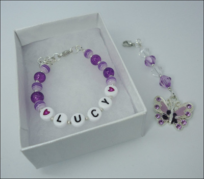 Name Bracelet and Butterfly Charm Party