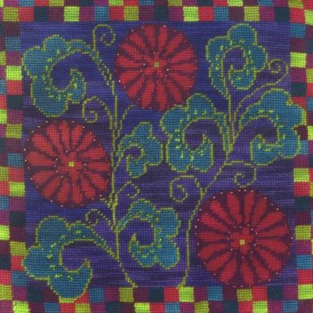 Napoli Flowers Needlepoint Cushion Kit by Mary Self