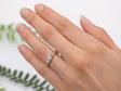 Narrative Traces Three Stone Diamond Ring