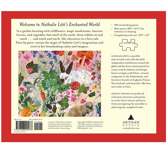 Nathalie Lété: Rabbits 500-Piece Puzzle buy online at www.puzzlesnz.co.nz