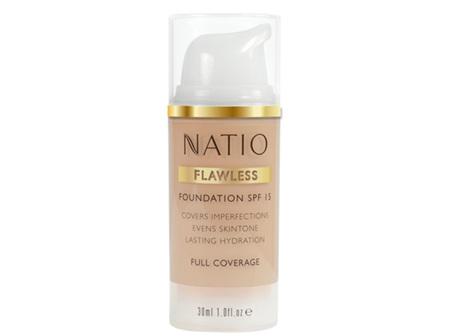 NATIO Flawless Fdn SPF15 Med Tan