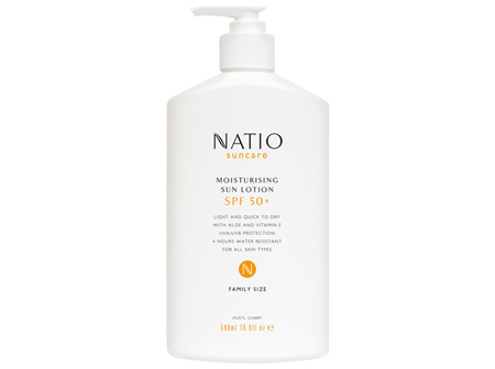 Natio Suncare Moisturising Sun Lotion SPF 50+ 500ml