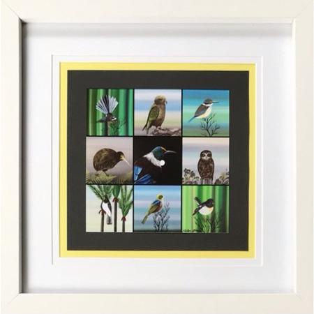 Native Birds - square frame 8 x 8'