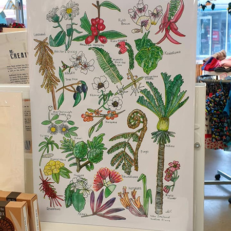 Native NZ Flora A4 Print