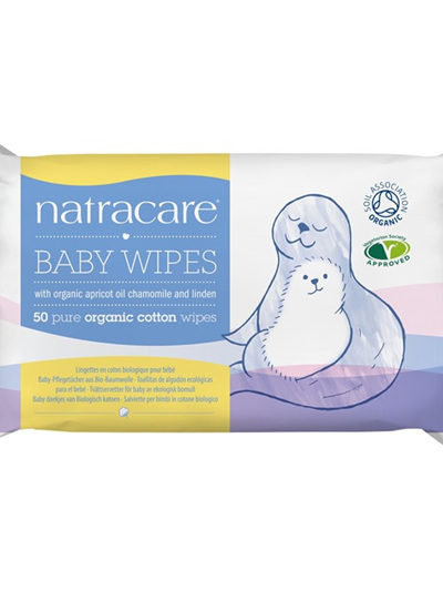 Natracare Baby Wipes - 50 pack