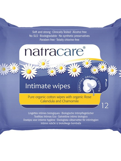 Natracare Organic Cotton Intimate Wipes - 12 pack