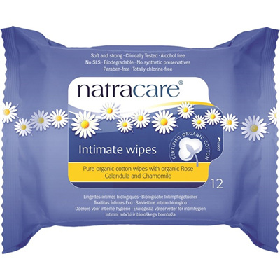 Natracare Organic Intimate Wipes 12pk