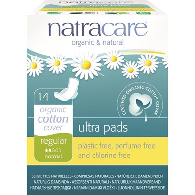 Natracare Ultra Pads Regular with Wings 14pk