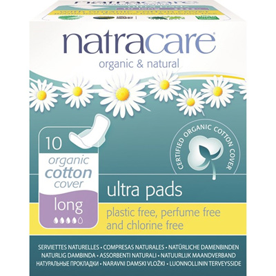 Natracare Ultrapad Long w Wings - 10 pack