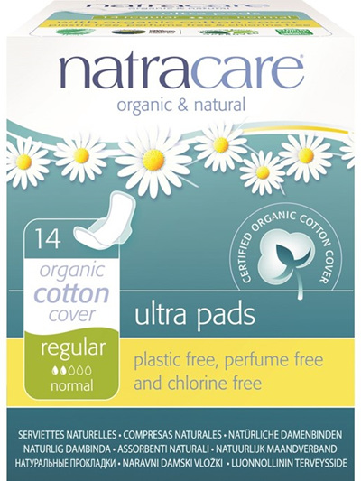 Natracare Ultrapad Regular w Wings - 14 pack