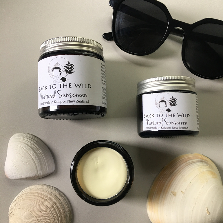 natural affordable back to the wild sunscreen zero waste glass jar nz
