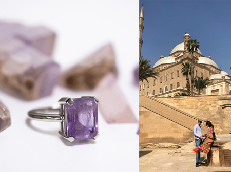 Natural Crystal to Vibrant Amethyst Ring: A Representation of Romance