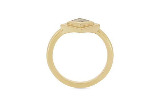 natural diamond kite shape dress ring