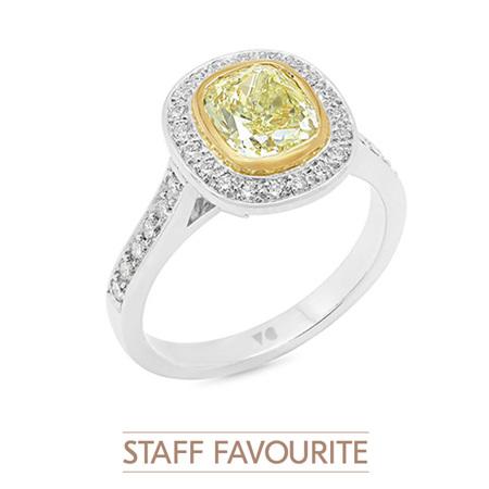 Natural Fancy Yellow Diamond Ring