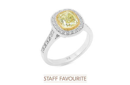 Natural Fancy Yellow Diamond Ring