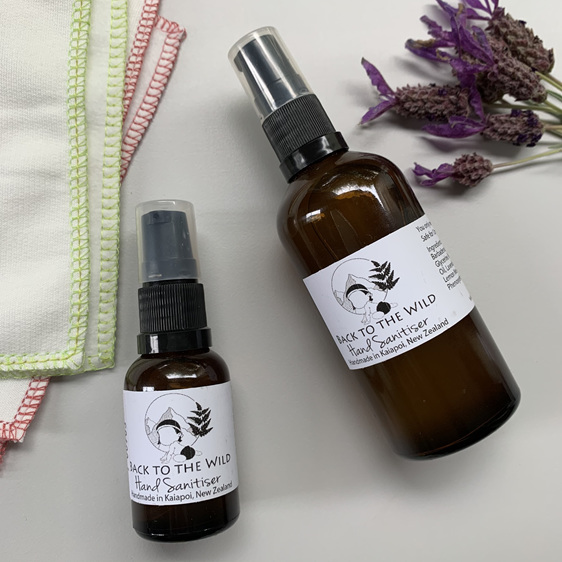 Natural hand sanitiser effective organic alcohol free essential oil