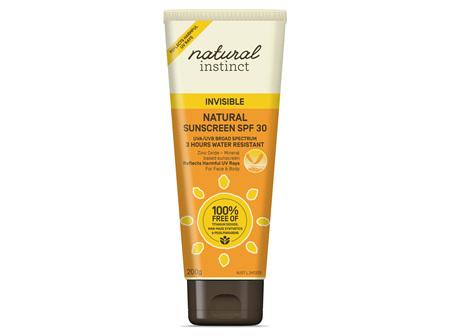 Natural Instinct Invisible Natural Sunscreen SPR30+ 200g