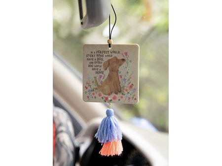 Natural Life Air Freshener Tassel Perfect World Dog