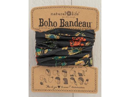 Natural Life Boho Bandeau Charcoal Floral