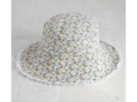 Natural Life Bucket Hat Cream Floral