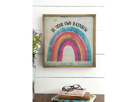 Natural Life Bungalow Art Rainbow 30 x 30cm Rainbow