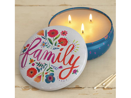 Natural Life Candle in a Tin Large Family