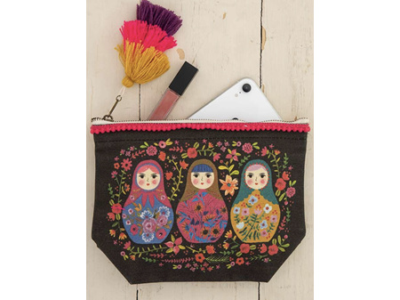 Natural Life Canvas Pouch Russian Dolls