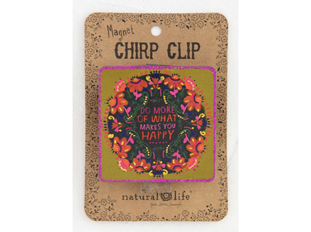Natural Life Chirp Magnet Clip Makes You Happy