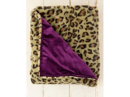 Natural Life Cozy Blanket Animal Print Olive