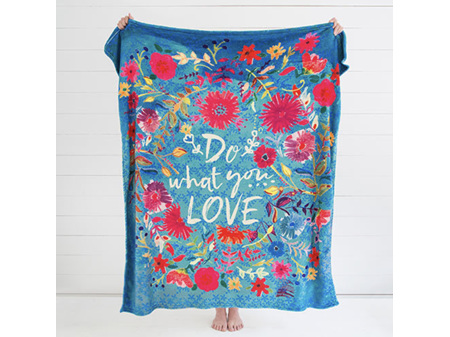 Natural Life Cozy Blanket Do What You Love