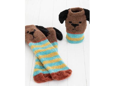 Natural Life Cozy Socks Brown Dog