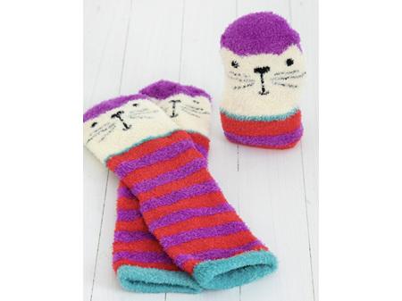 Natural Life Cozy Socks Cat