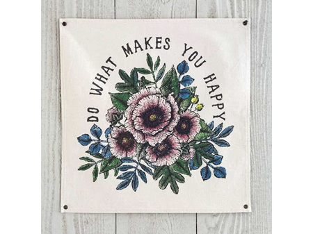 Natural Life Do What Makes You Happy Wall Hanging