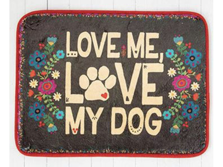 Natural Life Drying Mat Love Me Love My Dog