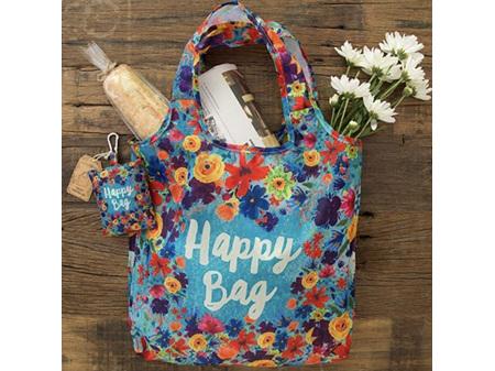 Natural Life Fold-up Shopping Bag - Happy Bag