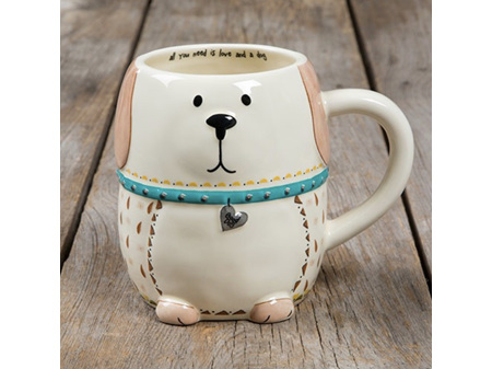 Natural Life Folk Mug Love and a Dog
